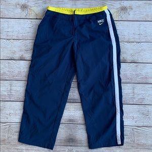 Nike Navy Blue Capri Pants With Side Stripes